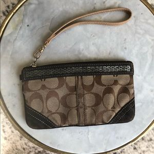 Coach Signature Wristlet with Beaded Band